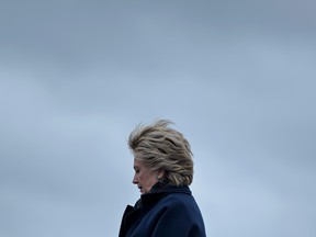 Clinton arriving at Boeing Field in Seattle, Washington in October 2016.