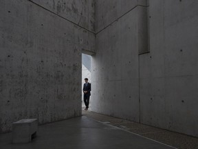 Canadian Prime Minister Justin Trudeau tours the National Holocaust Monument in Ottawa, Wednesday, September 27, 2017. THE CANADIAN PRESS/Adrian Wyld