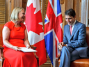 The British high commissioner to Canada with Justin Trudeau