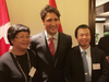Istuary founder Ethan Sun, right, pictured with Justin Trudeau.