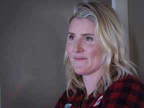 Four-time Olympic gold medallist Hayley Wickenheiser poses for a portrait in Calgary, Alta., Wednesday, Jan. 11, 2017. Canadian women's hockey star Wickenheiser says the death of Tragically Hip frontman Gord Downie feels like the loss of a teammate. THE CANADIAN PRESS/Jeff McIntosh