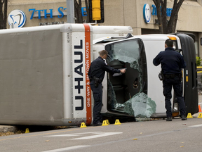 """Edmonton police investigate a U-Haul truck that was involved in """"acts of terrorism."""""""