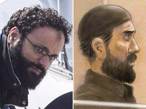 Chiheb Esseghaier, left, and Raed Jaser were sentenced to life in prison for conspiring to commit murder for a terrorist group.