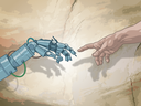 "Unlike most religions, which seek to connect people with the past, this one seeks to connect them with the future, the imagined ""singularity"" of runaway artificial intelligence."