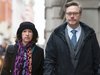 Sally Lane and John Letts, parents of Jack Letts, outside the Old Bailey court in central London on Jan. 12, 2017. The couple were charged with funding a terrorist group after they tried to send money to Jack in Syria.