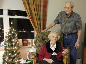 Herbert and Audrey Goodine, bid a tearful goodbye this week, separated just days before Christmas after 73 years together.