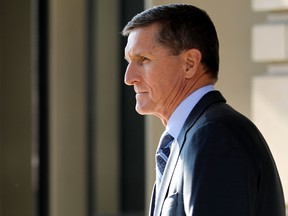 Michael Flynn, former national security advisor to President Donald Trump, leaves following his plea hearing at the Prettyman Federal Courthouse December 1, 2017 in Washington, DC.