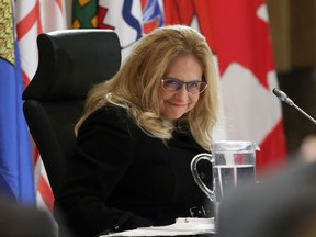 Supreme Court of Canada nominee Justice Sheilah Martin takes part in a question and answer session with members of the Standing Committee on Justice and Human Rights and members of the standing Senate committee on Legal and Constitutional Affairs in Ottawa on Tuesday, December 5, 2017.