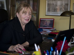 Nika Pinter, the lawyer for Slobodan Praljak, former Croatian general who has died after swallowing poisonous liquid at a war crimes hearing in the Netherlands, talks to the Associated Press at her office in Zagreb, Croatia, Tuesday, Dec. 5, 2017. Pinter said that looking back at his actions, he might have planned taking his life long before he was found guilty.