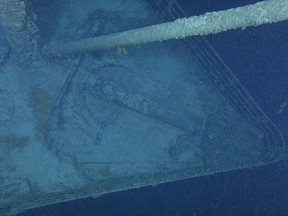 A birds-eye view of the Titanic bow. The expedition will use cutting-edge high resolution imaging and underwater laser scanners to create a highly detailed 3D virtual model to better track Titanic's decay.
