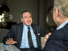 Canadian-American political commentator David Frum speaks Friday in Toronto with National Post founding editor Ken Whyte.