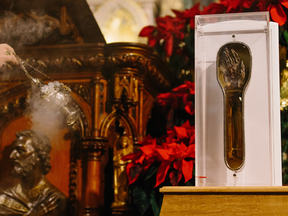 The forearm of St. Francis Xavier, patron saint of missions, has embarked on a 14-city tour of Canada.