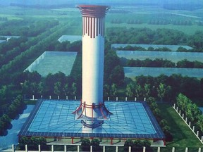 Artists' impression of the purification tower.