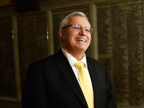 Ontario PC party interim leader Vic Fedeli  at Queen's Park after a caucus meeting on Friday, Jan. 26, 2018.