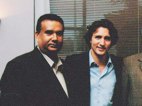 Jaspal Atwal with Justin Trudeau in an undated photo.