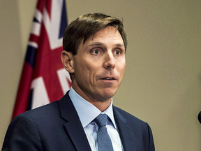 Patrick Brown, then-Leader of the Ontario Progressive Conservatives, addresses sexual misconduct allegations at a press conference on  Jan. 24, 2018.
