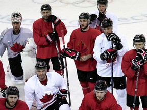 Look left and right down the Canadian Olympic men's hockey bench and the stories all have their own texture, their own element of emotion.