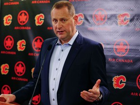 Calgary Flames general manager Brad Treliving hardly expected his team would be all but out of the playoffs with less than three weeks to go in the season.