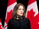 "Foreign Minister Chrystia Freeland: ""Canadians are rightly concerned about how arms could be used to perpetuate regional and international conflicts in which civilians have suffered and lost their lives."""