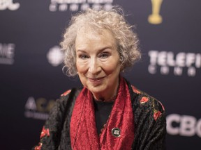 Margaret Atwood arrives on the red carpet at the Canadian Screen Awards in Toronto on Sunday, March 11, 2018.