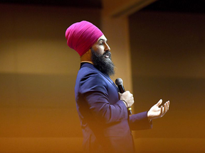 NDP Leader Jagmeet Singh has denounced all forms violence in a statement posted to the NDP website, but a video has surfaced showing him participating in a seminar on Sikh sovereignty where a fellow panellist says violence can help achieve independence.