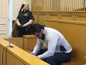 Former St. John's cab driver Lulzim Jakupaj appears in provincial Supreme Court in St. John's, N.L., on Wed. March 28, 2018.