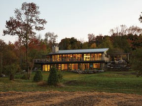 The home has beautiful views of the surrounding countryside.