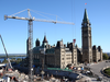 A view of renovations on the West Block of Parliament Hill in Ottawa, Sept. 15, 2016.