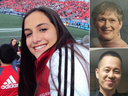 Clockwise from left: Anne Marie D'Amico, Dorothy Sewell and Chul Min (Eddie) Kang were among the 10 people killed in the Toronto van attack.
