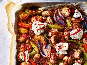 Sausage, Potato, Pepper & Onion Bake