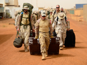 Canadian troops arrive at a UN base in Gao, Mali, on June 25, 2018.