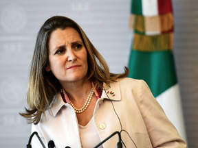 Foreign Affairs Minister Chrystia Freeland in Mexico City, on July 25, 2018.