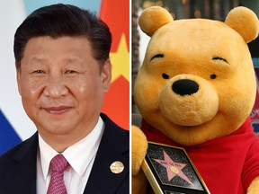 Chinese President Xi Jinping and Winnie the Pooh, symbol of dissent.