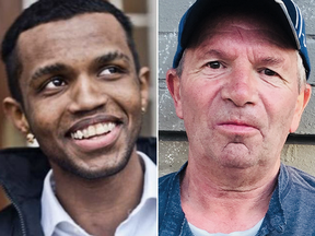 Abdoul Abdi, left, and Kevin Pinder are both permanent residents who have lived in Canada most of their lives.