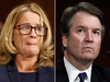 Christine Blasey Ford and Supreme Court nominee Brett Kavanaugh at a Senate Judiciary Committee on Sept. 27, 2018.