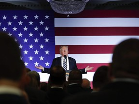 President Donald Trump gestures while speaking at a Republican fundraiser at the Carmel Country Club in in Charlotte, N.C., on August 31, 2018. Under almost any normal circumstance, the negotiation of a trade pact between countries should result in benefits for consumers, say experts who have closely watched the North American trade talks unfold in Washington. After all, they say, the lifting of trade barriers should result in more competition, which should translate to more consumer choice, and therefore lower prices. But with Donald Trump driving the agenda for the American side of the bargaining process, at least two of those experts warn that the uncertainty generated around the negotiation of a new North American Free Trade Agreement will ultimately only hurt consumers. THE CANADIAN PRESS/AP, Pablo Martinez Monsivais ORG XMIT: CPT502