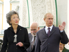 """Then-Governor General Adrienne Clarkson meets with Russian President Vladimir Putin in September 2003 during her 19-day """"northern identity"""" tour of Russia, Finland and Iceland that ended up costing $5.3 million."""