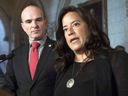 Liberal MP and justice committee memberRandy Boissonnault with Justice Minister Jody Wilson-Raybould in 2016.