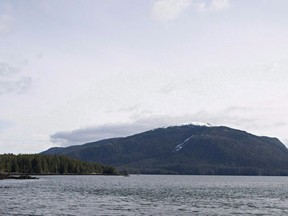 Lelu Island, near Prince Rupert, B.C., is seen March 8, 2013. The approval of Canada's first LNG export terminal is expected to boost investor confidence in Canada's natural gas sector, industry observers say.