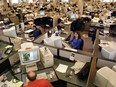 The National Post newsroom in 2001. The newspaper is 20 years old today, Oct. 26, 2018.