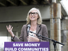 Toronto Mayoralty candidate Jennifer Keesmaat discusses her plan to tear down the Gardiner Expressway if elected,  Sept. 30, 2018.