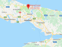 Turkish police are searching Belgrad forest, 16 kilometres north of Istanbul as well as the farmland of Yalova province (bottom of the map), almost 100 kilometres south of the capital for the remains of missing journalist Jamal Khashoggi.