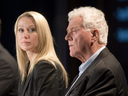 Belinda Stronach and her father Frank Stronach at a Magna International Inc. annual general meeting in May 2010.