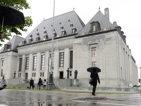 The Supreme Court of Canada building in Ottawa.