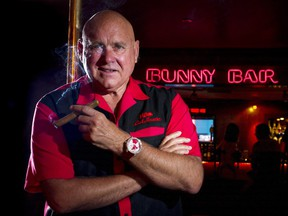 Dennis Hof stands for a photograph inside the Moonlite Bunny Ranch in Mound House, Carson City, Nevada, U.S., on Tuesday, Aug. 20, 2013.