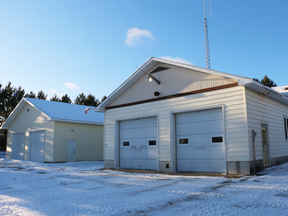 The fire hall in Gogam, Ontario.