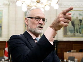 Auditor General Michael Ferguson waits to testify before a House of Commons committee on his spring audit of the government's employment training services for Indigenous Peoples, Oct. 29, 2018.