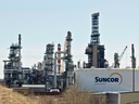 A Suncor refinery in Edmonton. Energy companies with their own refineries are not as affected by the slump in oil prices.