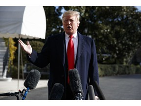 President Donald Trump talks with reporters before traveling to the G20 Summit in Buenos Aires, on the South Lawn of the White House, Thursday, Nov. 29, 2018, in Washington. Trump and Nancy Pelosi haven't talked in days, not since he called to congratulate her on Democrats' election night when. But they don't really need to. The two go way back, from before he was president or she was speaker. Not quite friends, nor enemies, theirs is now perhaps the most important relationship in Washington.