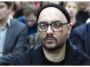 Russian theatre and film director Kirill Serebrennikov waits for a start of court hearing in Moscow, Russia, Wednesday, Nov. 7, 2018. Serebrennikov has been under house arrest since August 2017 on charges of embezzling 133 million rubles (1bout $2 million) of state funding for a theater project, accusations he denies.
